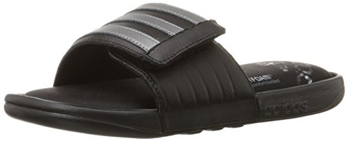 Adidas Fit Foam (adidas Performance Men's Adissage Comfort Sandal,Black/Iron Metallic Grey/Black,12 M)