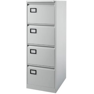 Bisley Aoc 4 Drawer Foolscap Filing Cabinet - Grey