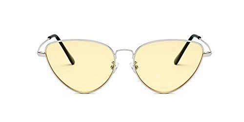 rond style Lennon cercle vintage lunettes métallique du Film soleil retro de polarisées inspirées Jaune en nqfTC
