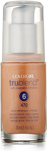 CoverGirl TruBlend Liquid Makeup Foundation, Toasted Almond [470] 1 oz (Pack of 3)