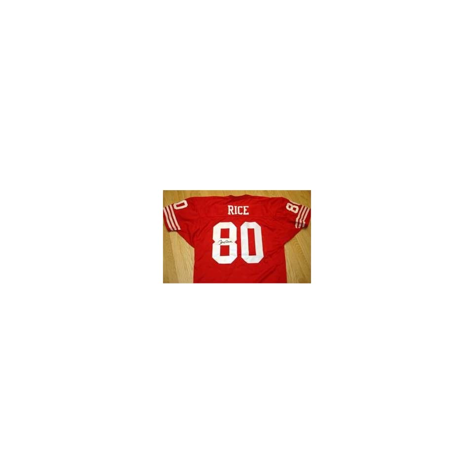 Jerry Rice autographed Football Jersey (San Francisco
