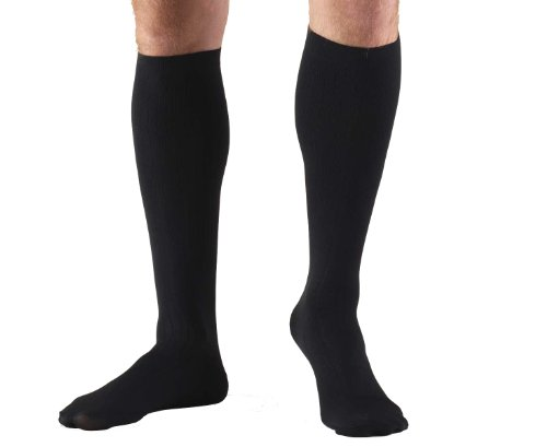 Truform 15-20, mmHg of Compression Dress-Style Support Socks, Mens Large, Black (Pack of 2), Health Care Stuffs