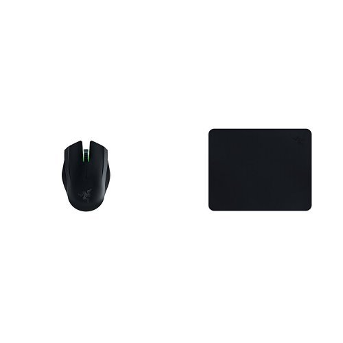 (Razer Orochi Wired or Wireless Bluetooth 4.0 Travel Gaming Mouse - Chroma Lighting - 8,200 DPI + Goliathus Stealth Mobile Black Gaming Mouse Pad)