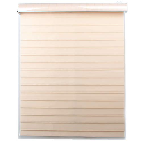 Custom Size Tripe Blinds Shangri-la Roller Shades for Rooms(Max Width 93″, Max Length 78″)(10 Colors for Choice)