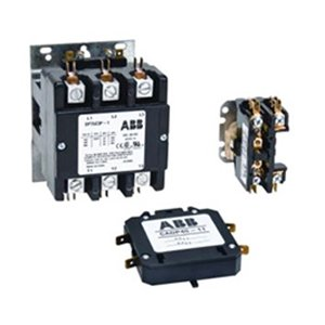- ABB DP60C2P-2 Definite Purpose Contactor, 208/240 VAC Coil, 60 A, 1 NO - 1 NC