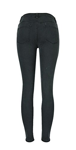 0119 Skinny Jean Angcoco Pants Ripped Stylish Holes Women's Destroyed qT8qRX