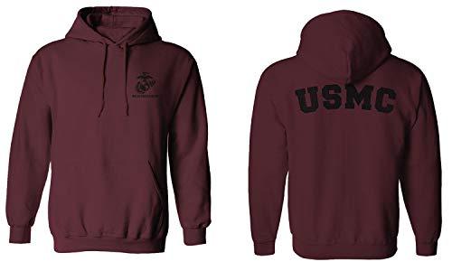 Black Seal United States of America USA American Marines Corps USMC Hoodie (Maroon, Large)