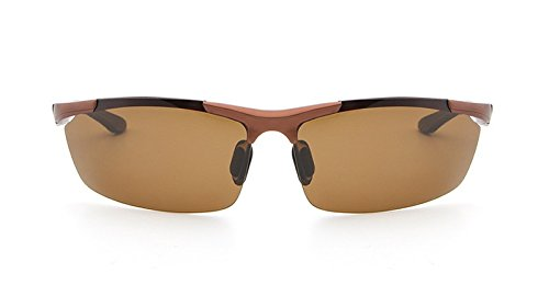 Gafas Nocturna Sol los Gafas Color Gafas Profesionales Sol Gafas Brown Hombres polarizadas de Shopping Gray Gray de Visión brown Masculina Go Noche de de Easy Uqawv7RCcq