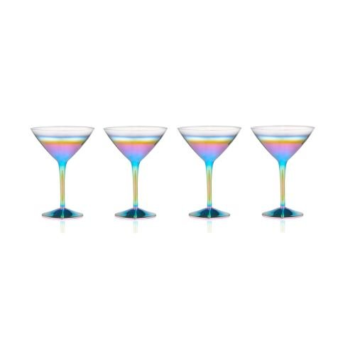 (Artland Rainbow 9 Ounce Martini Glass, Set of 4)