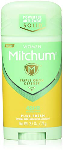 Mitchum For Women Advanced Control Anti-Perspirant Deodorant Invisible Solid Pure Fresh 2.70 oz (Pack of 3)