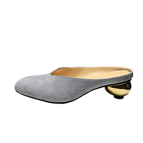 Occidentale Vaneel Grigio Arrotondata Tallone Vamlrt 2 4 on 5cm Scarpe Punta Uk Slip Muli Donne rqxrwZB0