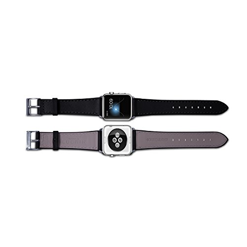 Lucrin - Apple Watch band 38 mm – Elegance - Black - Smooth Leather by Lucrin (Image #3)