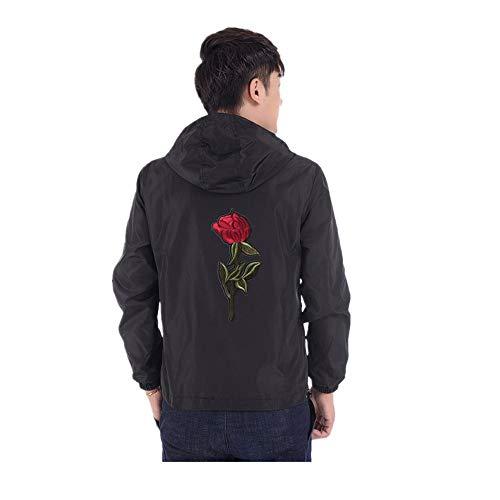 (Toimothcn Hoodie Mens Lightweight Hooded Sweatshirt Casual Solid Zipper Sports Jacket (Black,XL))