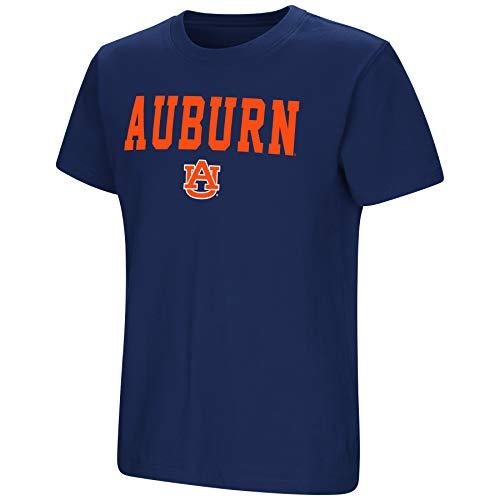 Auburn Kids Shirt - Colosseum NCAA Youth Boys-Talk The Talk-Cotton T-Shirt-Auburn Tigers-Navy-Youth Medium