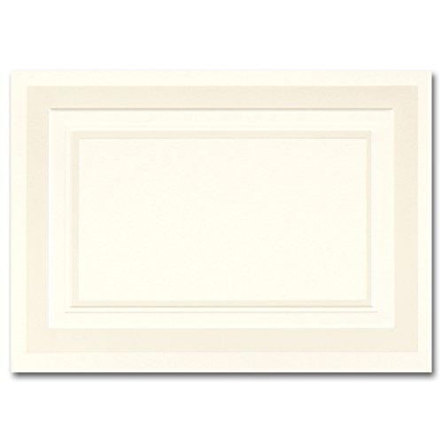Fine Impressions Fold-Over Response Cards, Ecru with Embossed Pearl Border, 250 Count (RRAN4FPEMBE)