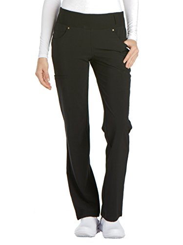 Cherokee iFlex CK002 Mid Rise Pull-On Pant Black S Tall