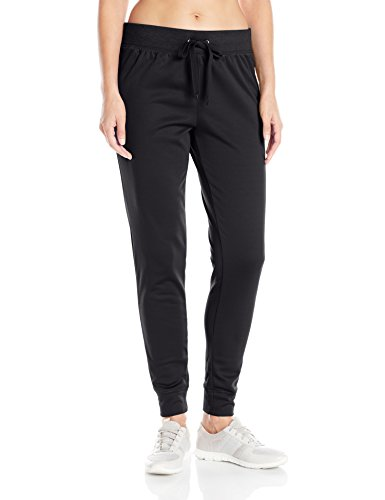 Hanes Women's Sport Performance Fleece Jogger Pants with Pockets, Black Solid/Black Heather, ()