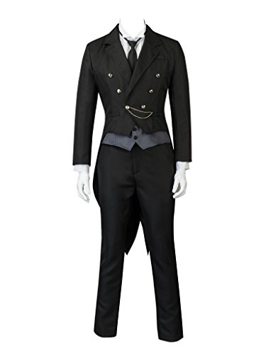 Costumes Black Butler (Cosfun Black Butler Kuroshitsuji Sebastian Michaelis Cosplay Costume mp003755 (Asian-XL))