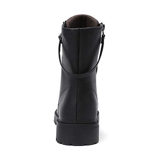 Zippée Antidérapant Cuir Moto Imperméables En De House Bottes Shoe Hommes IqC4g