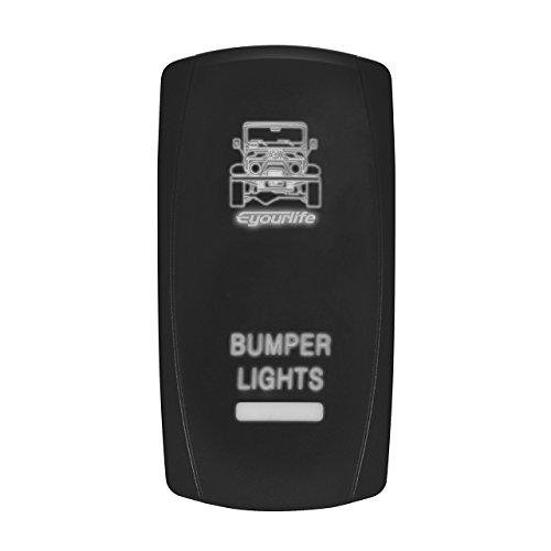 LED Backlit Rocker Switch,Eyourlife Laser Bumper Light Bar R