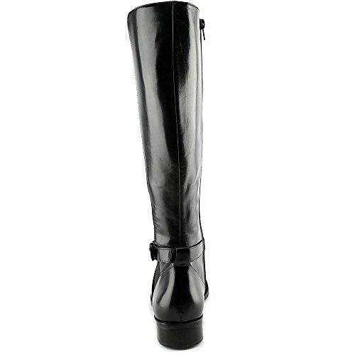 STEVEN by Steve Madden Frauen Sydnee (Wide Calf) Pumps rund Leder Reitstiefel Black