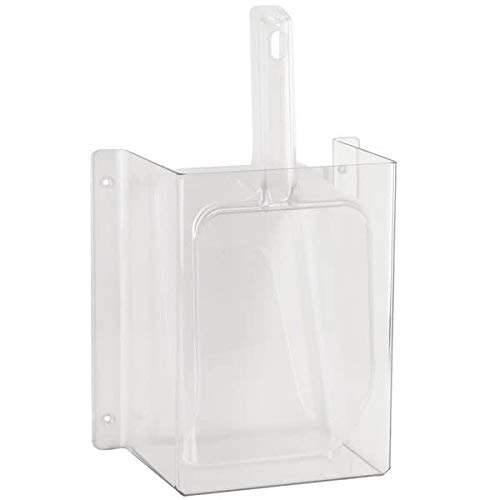 (Cal-Mil 631 Wall-Mount Scoop Guard w/ 64-oz Scoop - Polycarbonate, Clear)