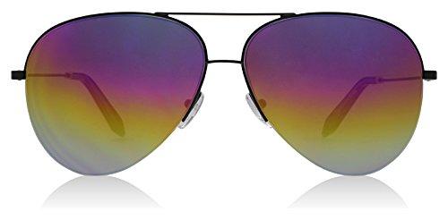 Victoria Beckham VBS98 C30 Black Rainbow Classic Victoria Large Aviator - Victoria Beckham Sunglasses Aviator