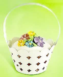 Wilton Hop & Tweet Cupcake Wrappers - Basket - White