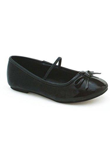 Patent Ballerina Slipper Black - Black Ballet Flat Heel Slipper Kids - Medium