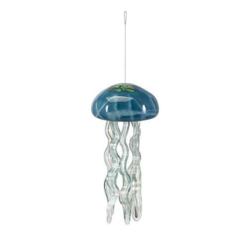 IMAX 47691 Jellyfish Glass Wind Chime, Large