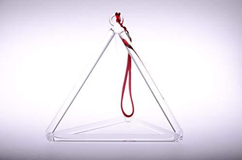 (Yoga Bowl Crystal Singing Bowl Triangle Crystal Singing Pyramid One 6 inch with Free Suede Striker)