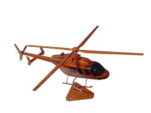 (Bell 407 Helicopter Wooden desktop Model)