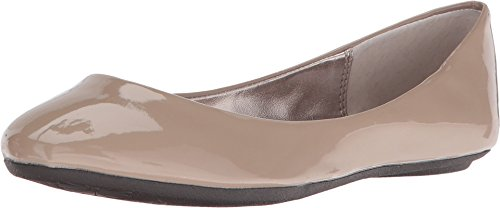 Steve Madden Women's P-Heaven Flat,Taupe Patent,8 M US
