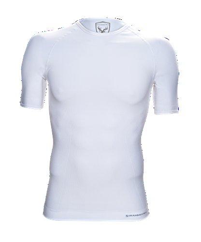 Strammer Max - Compression Wear, R-Neck, Bianco