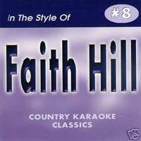 FAITH HILL Country Karaoke Classics CDG Music CD