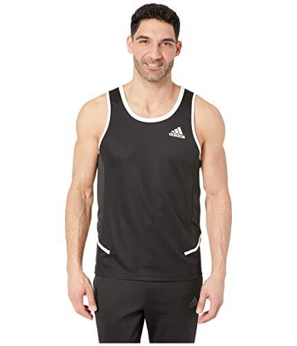 adidas Men's Active Tank Black/White Large