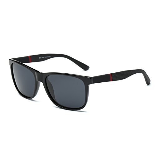 DONNA Polarized Sports Sunglasses Square Aviator Shades for Fishing D57(Glossy - Small Face A Best For Sunglasses