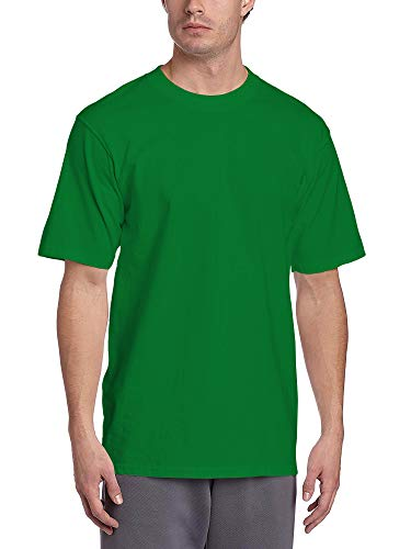 Hat and Beyond Mens Super Max Heavyweight Cotton T Shirt Solid Short Sleeve Tee S-5XL (1ks06_Kelly Green/X-Large)