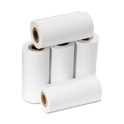 PM Company One Ply Adding Machine/Calculator Rolls, 2 1/4 inch x 17 ft, White, 5/Pack (Pm Company Calculator)