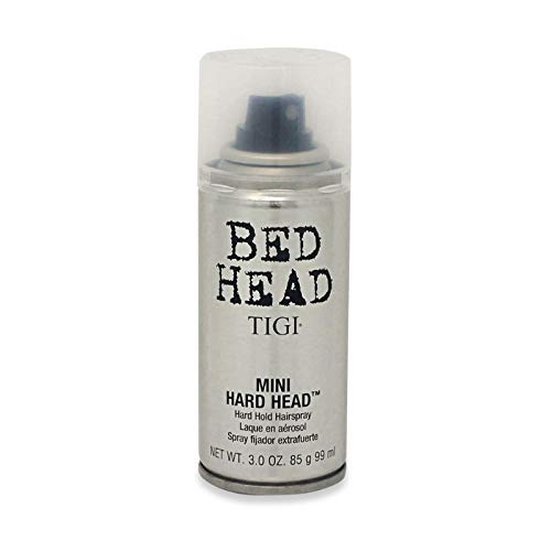 - TIGI Bed Head Mini Hard Head Hard Hold Hairspray - For Maximum Long Lasting Hold & Control, Shine Finish, Conditions Hair, Instant Dry, 3 oz (Pack of 2)