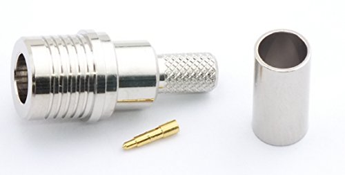 W5SWL Brand Premium Series QMA Male Crimp RF Radio Connector for RG-58 and Low Loss Type 195 Series Coax Cable - by W5SWL (195 Series Coax Cable)