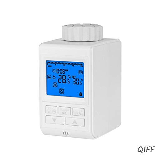 Ants-Store - Programmable Thermostat Timer TRV Radiator Valve Actuator Temperature Controller Mar28
