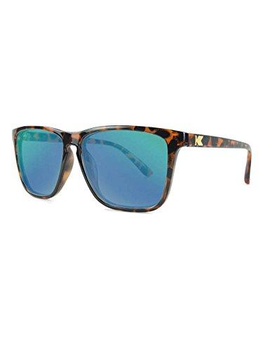 Knockaround Fast Lanes Non-Polarized Sunglasses, Glossy Tortoise Shell / Green - Sunglasses Glossy