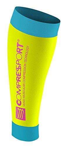 Compressport CALF R2 (Fluo Yellow)T1 by Compressport