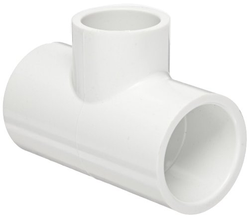 (GF Piping Systems PVC Pipe Fitting, Reducing Tee, Schedule 40, White, 2