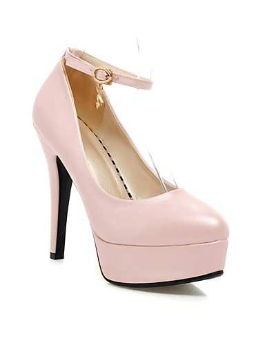 5 eu42 UK6 cn43 uk8 Bianco robusto EU39 n Rosa Nero Scarpe plataforma tacones Blu ZQ oficina casual negro rosa abito Lavoro mujer ® tacones di US8 semicuero tac 5 us10 CN41 ¨ BSqgA