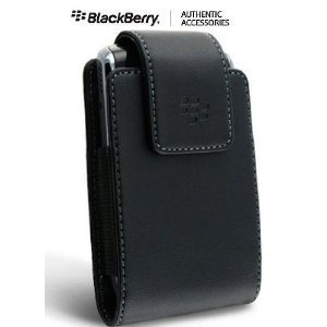 OEM (Original) Vertical Leather Case Pouch with Swivel Belt Clip for BlackBerry Storm 2 (Storm2) 9520