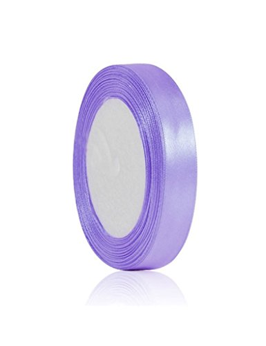Zacoo Solid Satin Ribbon 25 yards roll Violet
