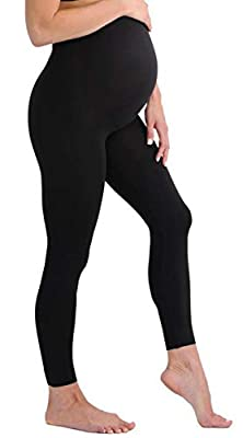Touch Me Black and Grey Maternity Leggings Soft Solid Stretch Seamless Tights One Size Fits All Active Wear Yoga Gym Clothes