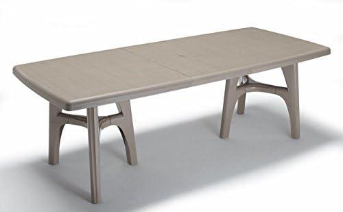 Mesa extensible para exterior Pardo, Top Estampado Terracota, mesa ...